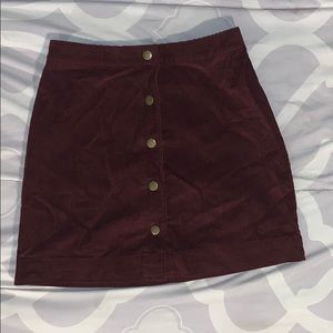 Corduroy Burgundy Skirt